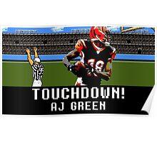 Tecmo Bowl AJ Green Poster