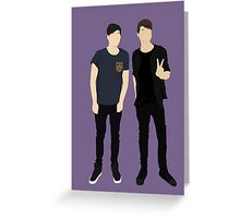 Dan and Phil Silhouettes Greeting Card