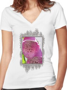 Digitalis from the Excelsior Mix Women's Fitted V-Neck T-Shirt