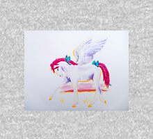 Pink Mane Pegasus with Blue Ribbons at Sunset Unisex T-Shirt