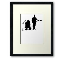 R2D2 C3PO Rock Band Framed Print