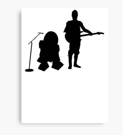 R2D2 C3PO Rock Band Canvas Print