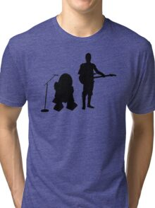 R2D2 C3PO Rock Band Tri-blend T-Shirt