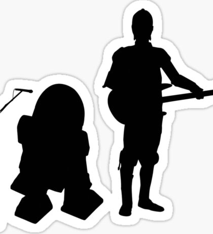 R2D2 C3PO Rock Band Sticker