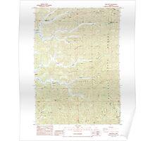 USGS Topo Map Oregon Trail Butte 281859 1985 24000 Poster