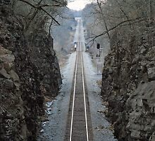 Train tracks in winter - Adams, TN by Phil Roberson