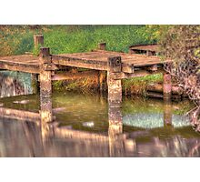 Murray River Jetty Photographic Print