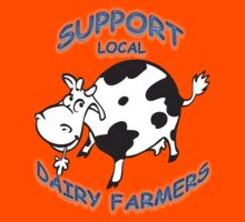 Support Local Dairy Farmers Kids Tee