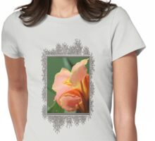 Dwarf Canna Lily named Corsica Womens Fitted T-Shirt