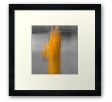 Hydrant and benches Framed Print
