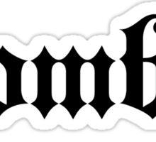 ZombieHIPPY • Zombie (Black) Sticker