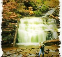 Tim at Mohican Falls by Aaron Campbell