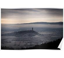 Misty View over Wallace Monument and Stirling  Poster