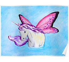 Purple Fairy Unicorn where Water Meets Sky Poster