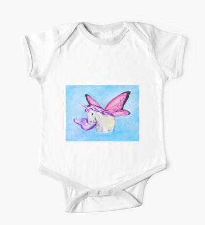Purple Fairy Unicorn where Water Meets Sky One Piece - Short Sleeve
