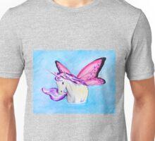 Purple Fairy Unicorn where Water Meets Sky Unisex T-Shirt