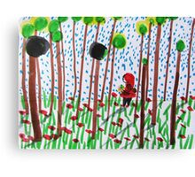 She walked in the woods Canvas Print