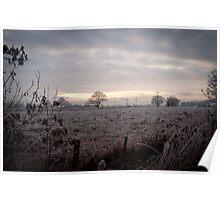 Cold Scottish Field Poster