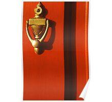 Red Door and Knocker Poster
