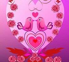 I Love You card by walstraasart