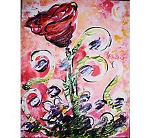Funky Rose Photographic Print