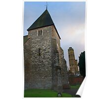Twin Towers of Hadlow Poster