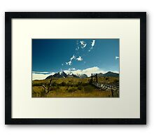 Torres del Paine, Chile, Patagonia Framed Print