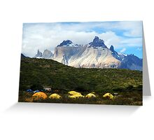 Torres del Paine, Chile, Patagonia Greeting Card