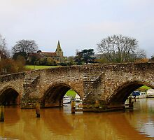 East Farleigh Bridge and Church by Dave Godden