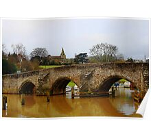 East Farleigh Bridge and Church Poster