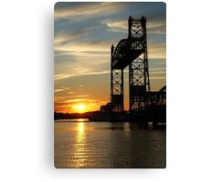 Jordan Bridge Sunset Canvas Print