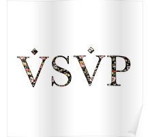 ASAP VSVP PINK GREEN RED YELLOW FLORAL Poster