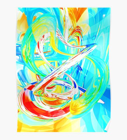 Immersed in Vividness Abstract Poster