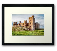 New Slains Castle Side View (Cruden Bay, Aberdeenshire, Scotland) Framed Print