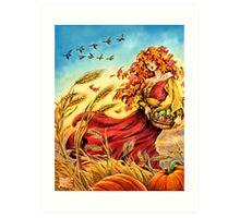 Harvest Faerie Art Print