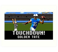 Tecmo Bowl Golden Tate Art Print