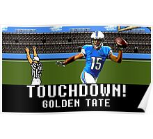 Tecmo Bowl Golden Tate Poster