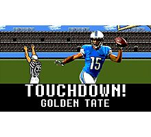 Tecmo Bowl Golden Tate Photographic Print