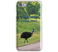 Cassowary Crossing iPhone Case/Skin