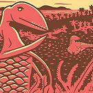 Dimorphodon and Scelidosaurus by David Orr