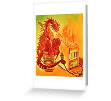 The Toaster Dragon Greeting Card