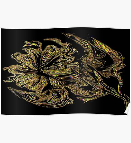 A Flower in Gold Poster