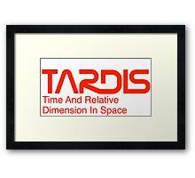 NASA Worm Logo TARDIS Framed Print