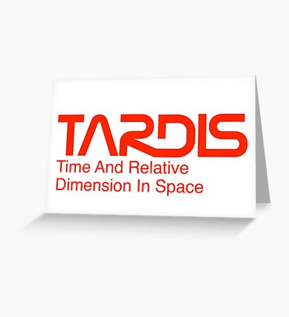 NASA Worm Logo TARDIS Greeting Card