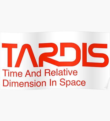 NASA Worm Logo TARDIS Poster
