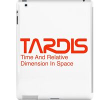 NASA Worm Logo TARDIS iPad Case/Skin