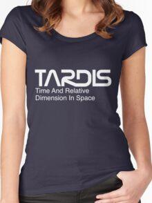 NASA Worm Logo TARDIS (White) Women's Fitted Scoop T-Shirt