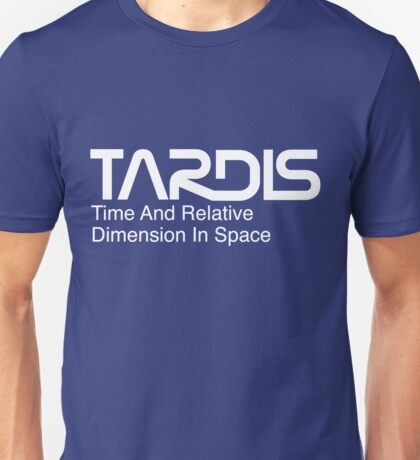 NASA Worm Logo TARDIS (White) Unisex T-Shirt