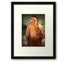 Real Mink Framed Print
