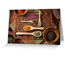 """""""Colorful Array of Spices"""" Greeting Card"""